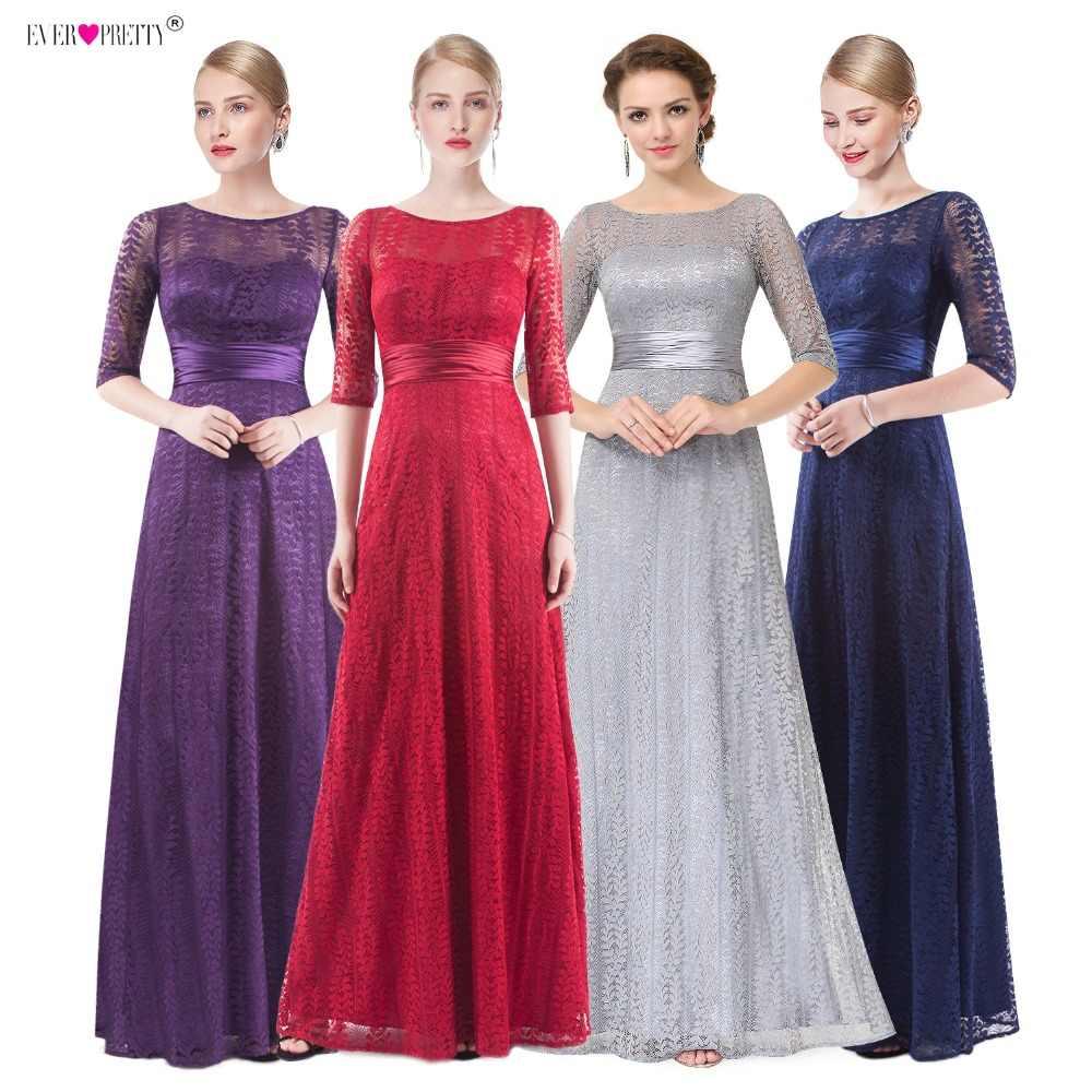 Las mujeres elegante Madre de la novia vestidos 2019 bastante EP08878 barato Grey de piso-longitud de talla grande vestidos madre