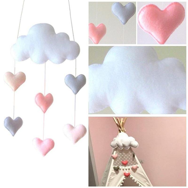 Cloud Star Heart Hanging Ornaments For Kids Room Decoration DIY Felt Wall Hangings Nordic Kids Room Decoration VQW3903