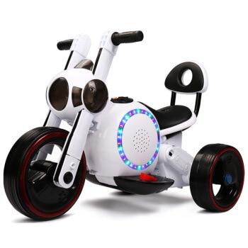 Enfants véhicules électriques motos Tricycles jouets voitures avec musique bébé Scooters à trois roues vélo bébé marcheur