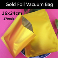 New 100pcs/lot 16x24cm (6.3'' * 9.4'') Food Storage Package Silver Aluminum Foil Mylar Vacuum Bag Sealer