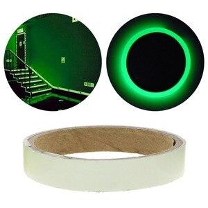 Image 5 - 1.5cm * 1m ışık floresan gece kendinden yapışkanlı kızdırma karanlık etiket bant güvenlik güvenlik ev dekorasyon uyarı bandı