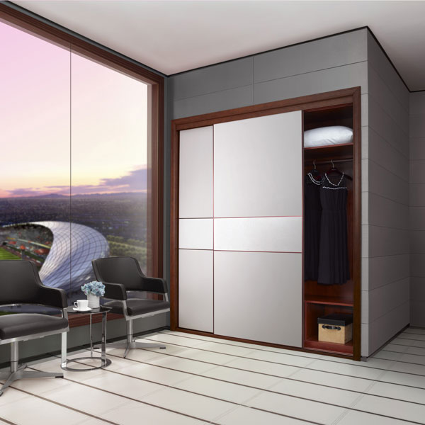 New Design Open Corner Bedroom Wooden Wardrobe Designs Yg11430