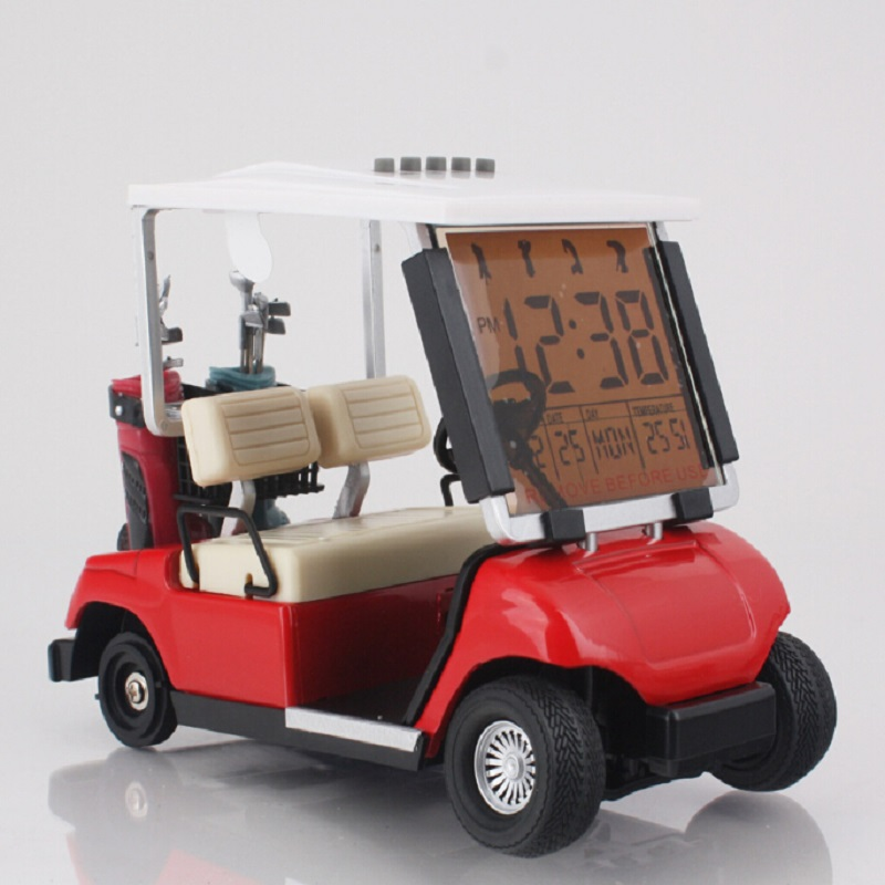 Golf car Alarm Clock / featured alarm clock / alarm clock bring pens despertador digital watch electronic desk pvc+plastic <font><b>klok</b></font>
