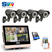 1080P HD Outdoor Manual Varifocal 2.8-12mm 78IR NightVison POE Camera System&Plug And Play 4CH POE NVR CCTV System+12'LCD Screen
