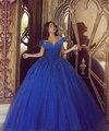 2017 Nova Adulto Vestidos Azul Royal vestido de Baile Vestido de Noiva Flores Do Casamento De Cinderela Fantasia vestido de Noiva vestidos de 15 años