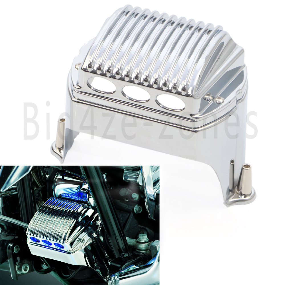 1547 Chrome Front Voltage Regulator Cover For Harley Touring Electra Glide Road King 97 11 Road