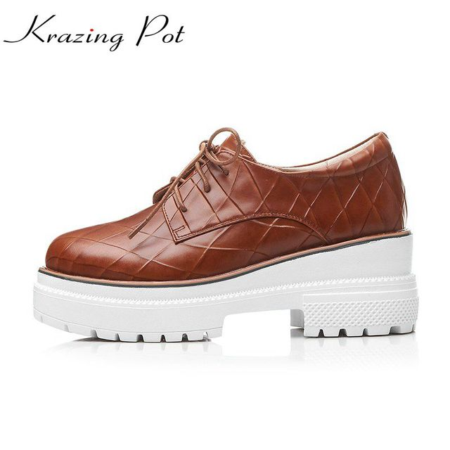 Chaussures en cuir Chaussures de mode de vache ... mBjFG