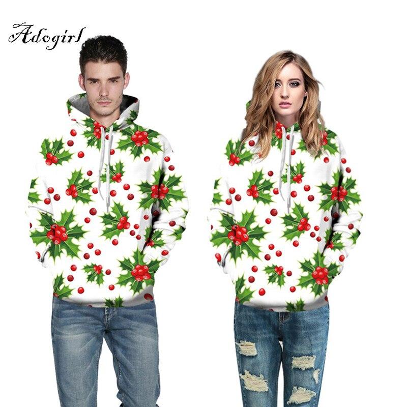 2017 Fashion 3d Print Christmas Tree Fruits Stylish Thin Hooded Sweatshirt Unisex Men Women Loose Hoodies Pullovers Tracksuits