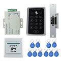 Completo sistema de control de acceso RFID a prueba de agua kit T11 digital lock + 3A/12 V fuente de alimentación + huelga eléctrica lock + 10 unids ID cards clave