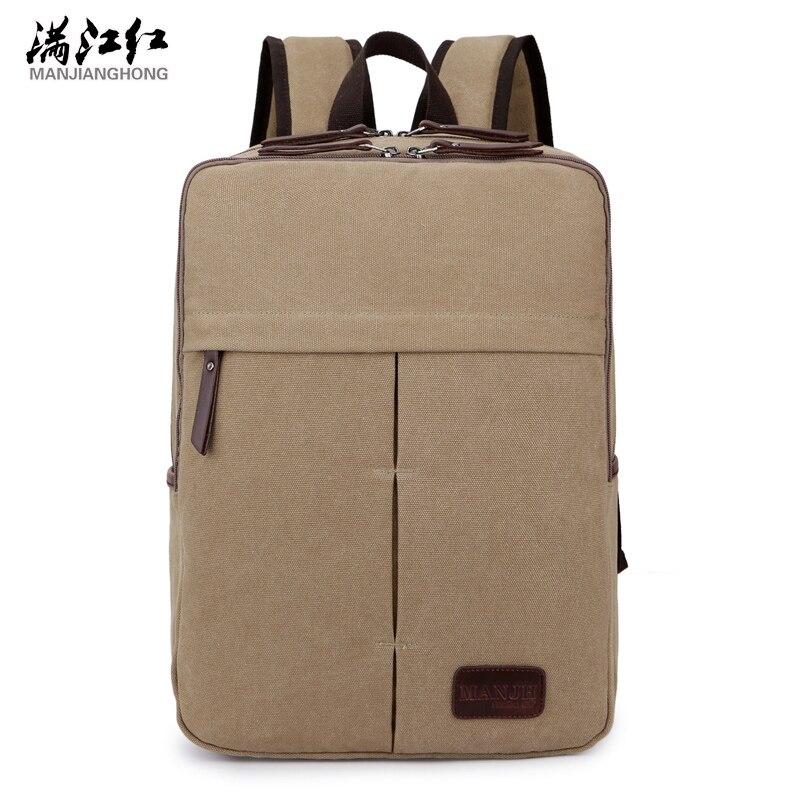 afac947fe17 Manjianghong Business Man τσάντα Διπλές τσάντες χωρισμάτων Τσάντες ανδρών  καμβά σακίδιο ταξιδίου 1353