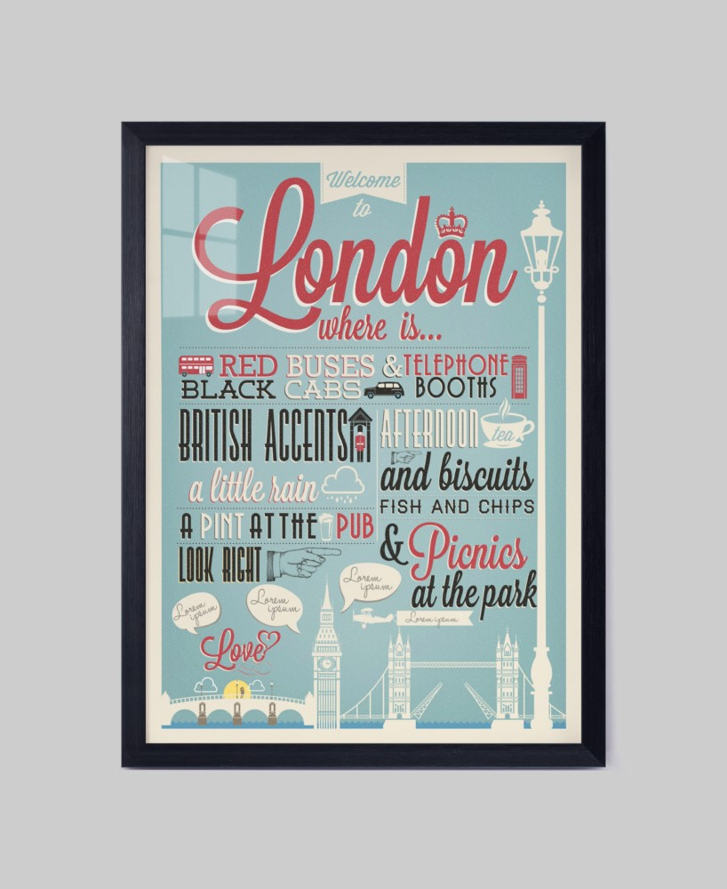 Paris London poster design Fashionable modern wall picture art wall canvas painting for Living room kitchen office bedroom decor