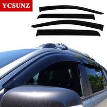 Солнцезащита боковых стёкол автомобиля дефлекторы для Ford Ranger ABS черный Цвет автомобиля Ветер Дефлектор гвардии для Ford Ranger T6 2012-2014 вентиляционные двери козырек