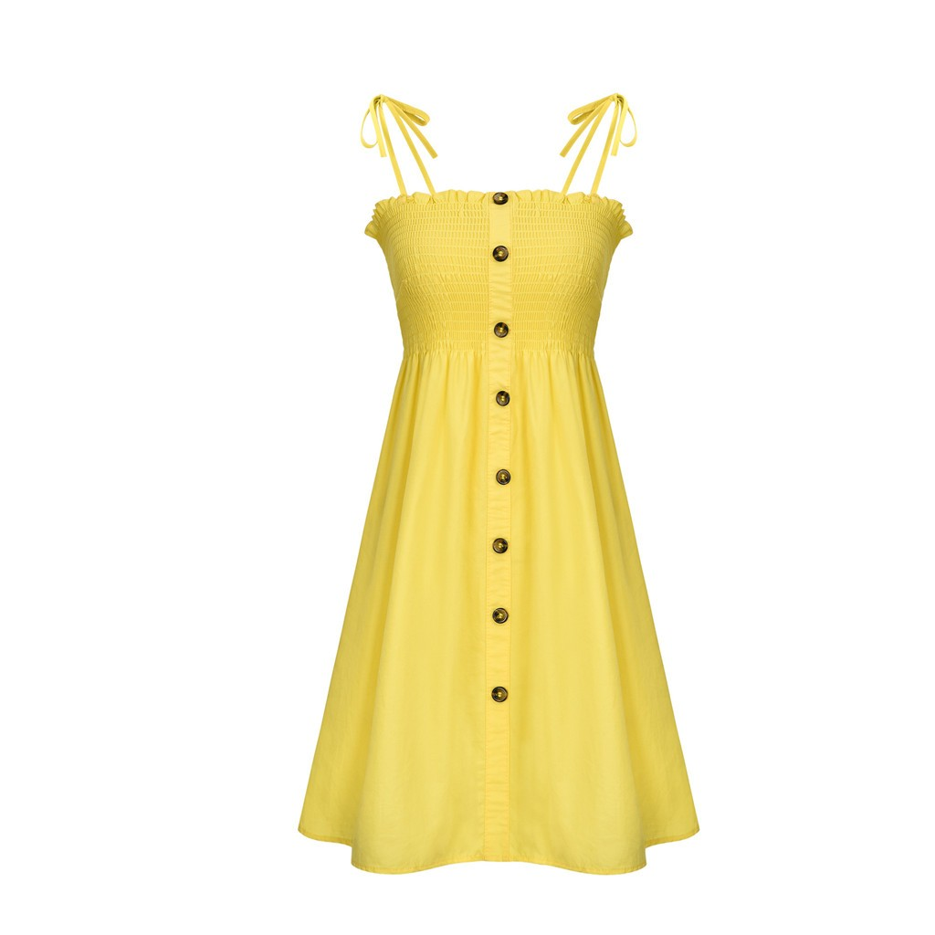 HTB1g5lRaOYrK1Rjy0Fdq6ACvVXaX Sexy Womens Dress Fashion Ladies Solid Color Bind Buttons Casual Mini Beach Dress Casual Ladies summer dress vestidos verano NEW