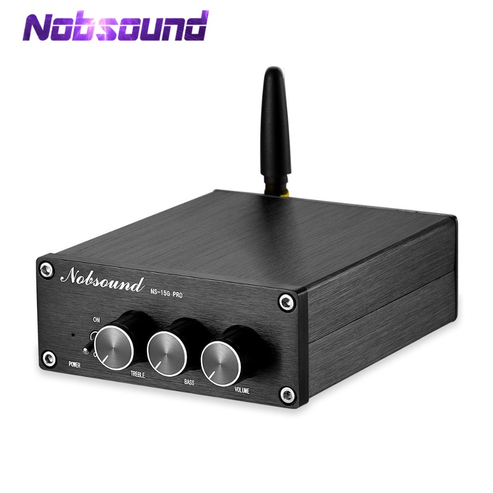 Nobsound Mini Bluetooth 5.0 TPA3116 Digitale Audio Versterker HiFi Klasse D Stereo Amp PCM5102A Decodering DAC 100W * 2-in Versterker van Consumentenelektronica op  Groep 1