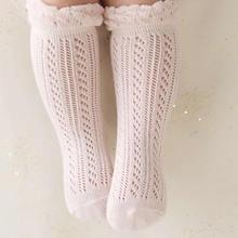 Носки для маленьких девочек 0-24 месяцев; хлопковые сетчатые Дышащие носки для новорожденных; гольфы для маленьких девочек