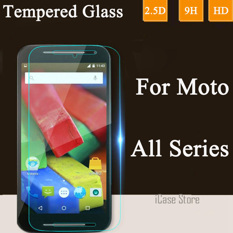 9H 2.5D Tempered Glass Screen Protector For Moto E E2 For Motorola G2 X Style Play G G2 G3 X X2 Google Nexus 6 Toughened Film
