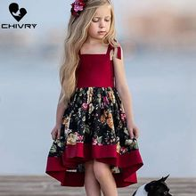 Chivry 2019 Gilrs Fashion Flower Sleeveless Irregular Princess Dress Baby Girls Cute Wedding Party Birthday Dresses Clothes
