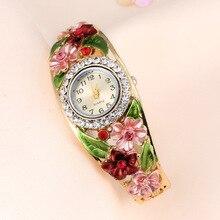 2019Lvpai Watches Hot Sale Fashion Casual Women Bracelet Watch Alloy Flowers Diamond Wrist Watches Dress Quartz Watch