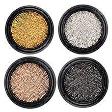 0.4mm a 2.0mm ouro rosa prata preto 3d metal decorações da arte do prego caviar grânulos manicure unhas falsas accessoires chegam novas