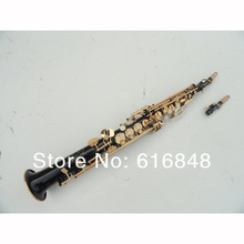 wholesale the black body gold-bonded Bb straight Soprano saxophone , France, Henry reference 54