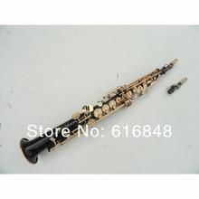 wholesale the black body gold-bonded Bb straight Soprano saxophone , France, Henry reference 54