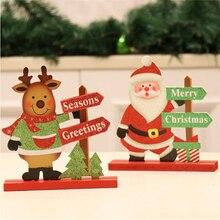 Ins wind Christmas tree decoration wooden desktop old man snowman deer creative furnishings