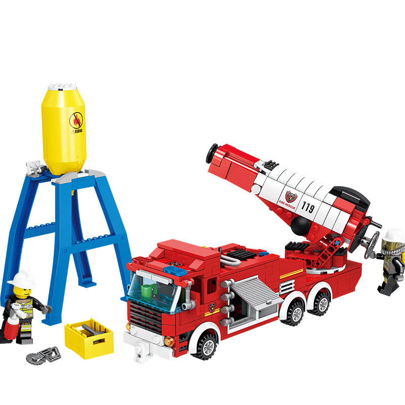 Model Building Blocks Beautiful Legoing City Firefighter 119 Emergency Fire Rescure Building Blocks Toys For Children Compatible Legoings Police Kid