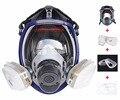2 en 1 Función 7 Unids Traje 6800 Respirador Máscara de Gas Respirador Pintura Rociar Cara Completa