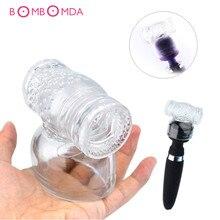 Vibrators Caps Transparent Big AV Wand Vibrator Headgear Sex Toys Magic Wand Head Accessories Body Massage Clitoris Stimulation