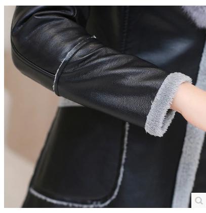 Fourrure Survêtement Moyen Velours Femme Une Cheveux Noir Plus De En Pièce Vêtements Lapin Hiver Cuir Rex Épaississement long Belle PfHaqTIf