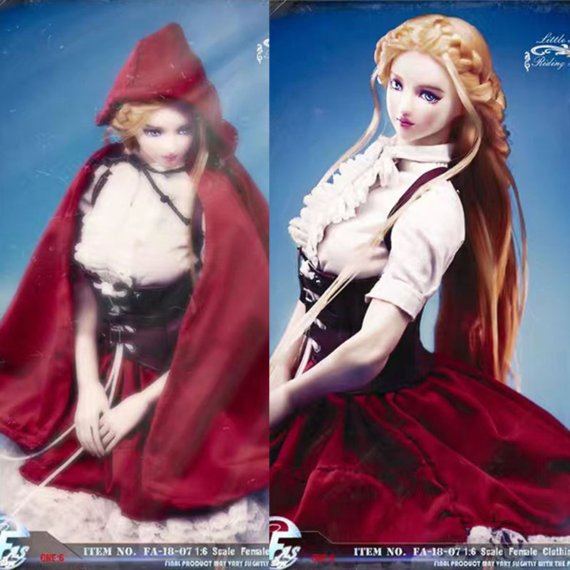 1/6 Scale 1/6 FA-18-07 Little Red Riding Hood Gothic Lolita clothing set for TBleague S22A 12 inches Action Figure Model 1/6 Scale 1/6 FA-18-07 Little Red Riding Hood Gothic Lolita clothing set for TBleague S22A 12 inches Action Figure Model