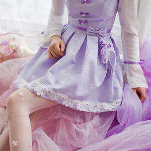Image 4 - Princess sweet lolita purple dress Candy rain Chinese style Stand collar Bow decoration Pleated  A Chinese design C16CD6135
