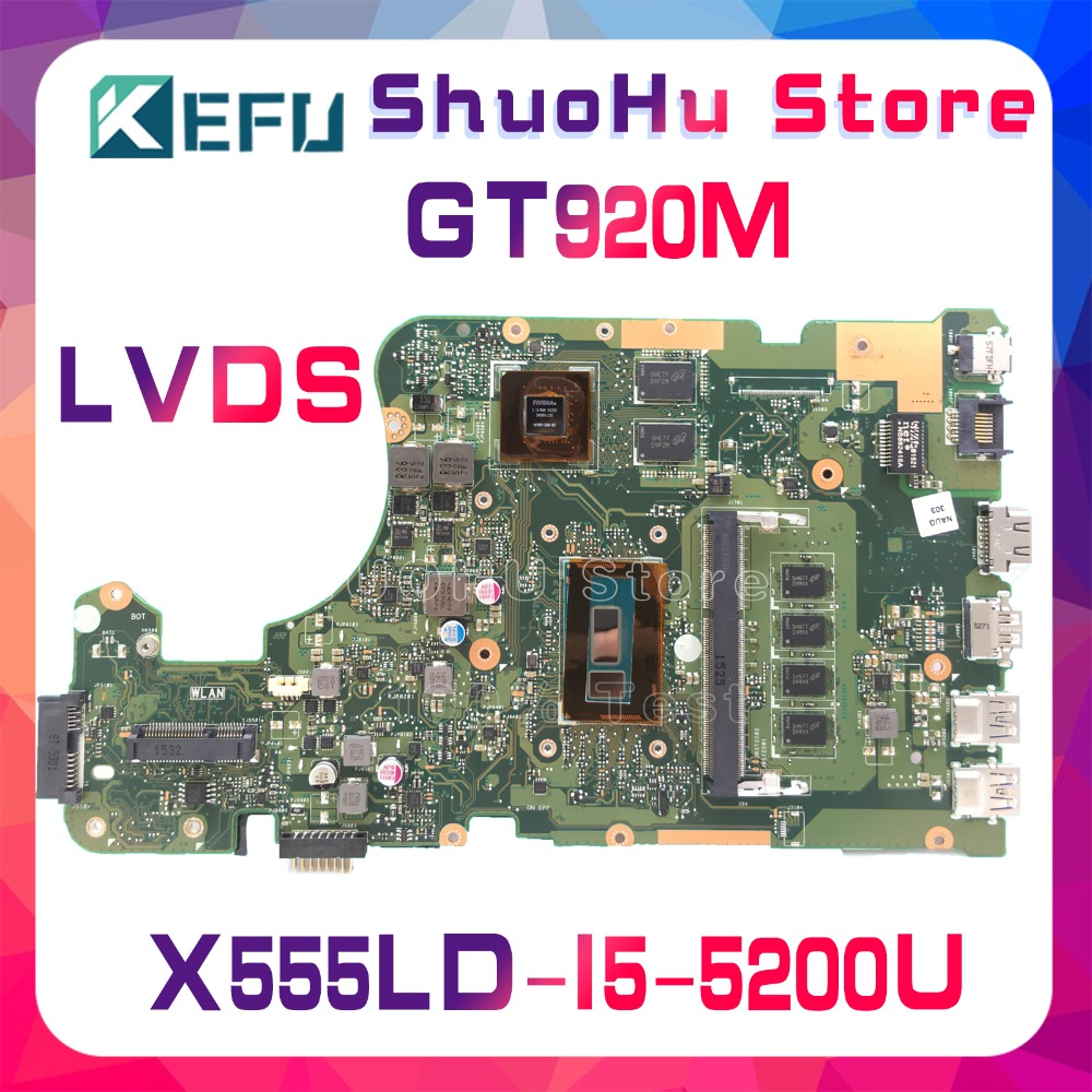 SHELI For ASUS X555LD X555LP X555LJ X555LDB X555LB X555LN X555LF X555L I5 laptop motherboard tested 100% work original mainboard for asus laptop motherboard x555ld x555l x555ld f555ld x555ln x555ldb rev 3 1 mainboard with i7 cpu gt840m 2g 100% tested