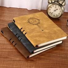 1PC Vintage PU Leather A5 Business Notebook Agenda Planner Schedule Journals Hard Cover Sketchbook Notepad Memo Book недорого