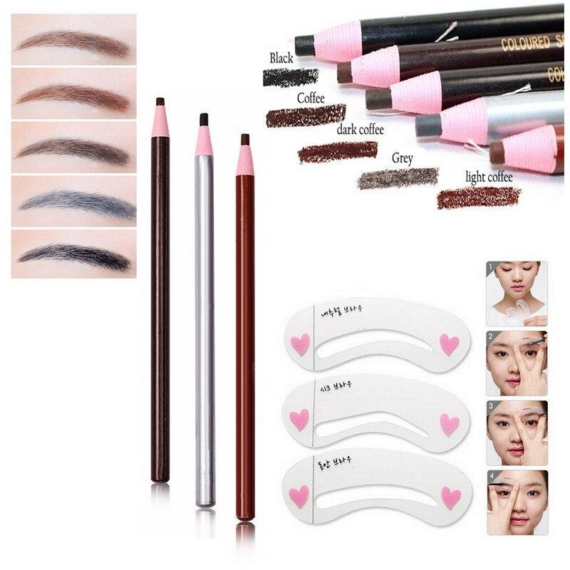 Bittb Eyebrow Beauty Makeup Set Eyebrow Pencil Drawing Stencils Mold Eye Brow Painting Mold Brow Care Eyebrow Make Up Tool Set