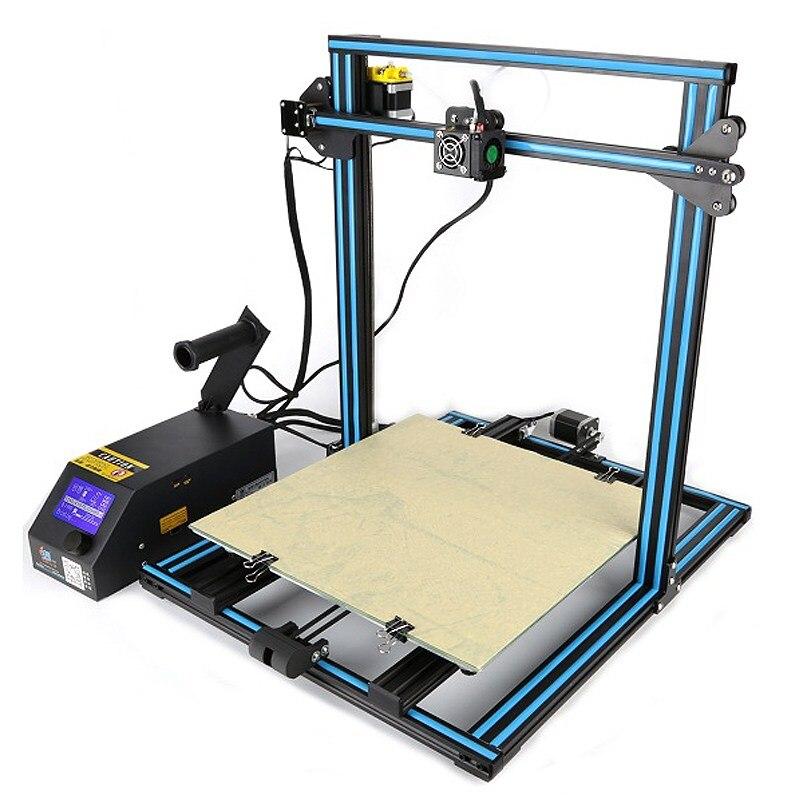 2017 Newest Creality 3D CR-10 Large Printing Size 500*500*500 mm DIY Desktop 3D printer Kit Multi-type Filament with Heated Bed 2017 tronxy x5 newest large printing area open build aluminium frame 3d printer kit flsun cube printer 3d with heated bed