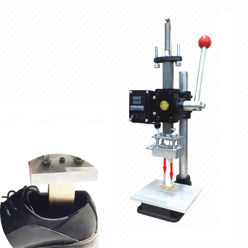 Feuille chaude emboutissant la machine de marque de pression 5*7 cm Machine de bronzage manuelle pour l'estampillage de semelle intérieure de chaussures en polyuréthane en cuir de PVC