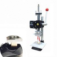 Hot Foil Stamping Pressure Mark Machine 5 7cm Manual Bronzing Machine For PVC Leather PU Shoes