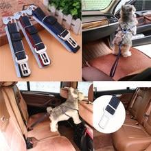 Dog Pet Car Safety Seat Belt Restraint Lead Travel Pets Harness Adjustable Clip