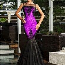 Элегантное Платье макси с блестками и аппликацией, вечернее платье с подолом русалки, женское платье большого размера 2XL, вечерние платья с открытой спиной R80196
