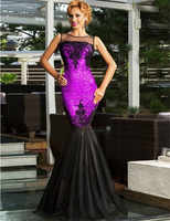 Élégant Vestido robe Maxi paillettes Appliques soirée avec sirène ourlet Burderry femmes grande taille 2XL dos nu robes de soirée R80196