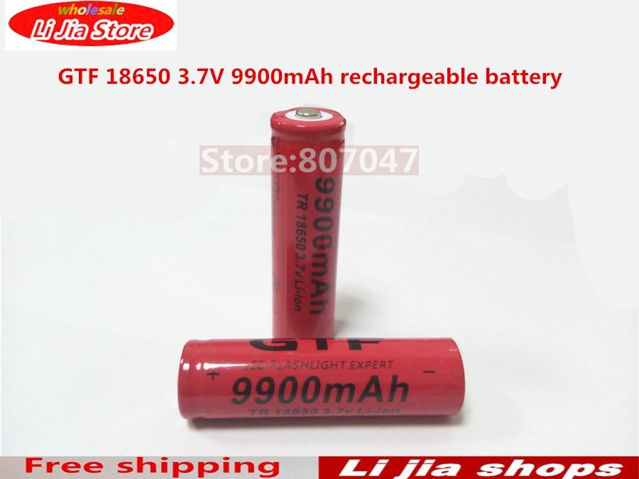 2016 Newest 10pcs TR <font><b>18650</b></font> 3.7V <font><b>9900mAh</b></font> Rechargeable Li-ion <font><b>Battery</b></font> for LED Flashlight free shipping