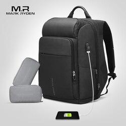 Mark Ryden Mannen Rugzak Multifunctionele USB Opladen 17 Inch Laptop Tas Grote Capaciteit Waterdichte Reistassen Voor Mannen