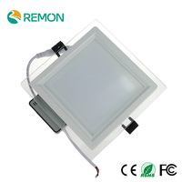 Modern Design With Glass 6w 12w 18w LED Ceiling Recessed Downlight / Square Panel Light Kitchen Light