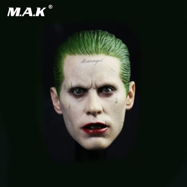 "1/6 Scale Male Head Sculpts Jared Leto Head Carving Model Toys The Joker Suicide Squad Model For 12"" Man Action Figure"
