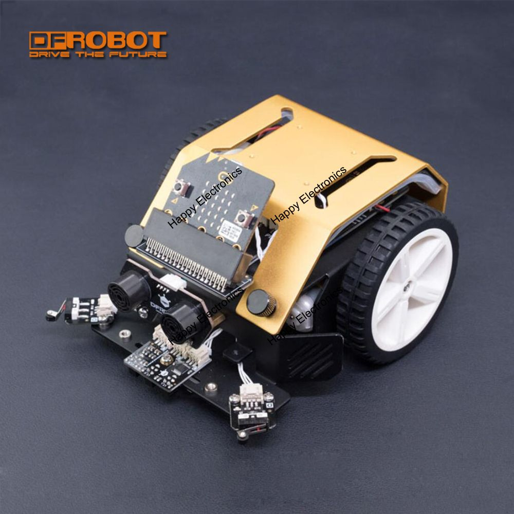 DFRobot Micro:bit Max:bot DIY Programmable Robot Kit With Track Line Chase Light Detect Collison Detect Edge For Kids Education