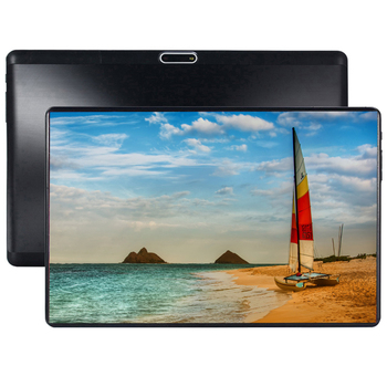 Novo android 9.0 a tabuleta 8 core 64 gb rom 3g 4g lte 1280 800 ips 5.0mp cartão sim ips tablet 2.5d vidro temperado 10.1 Polegada s119