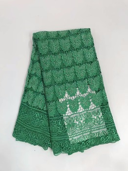 RL81002 with stone high quality Embroidery polyester light African guipure cord water soluble lace Fabric for nice dress 5y/lot