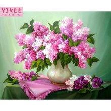 Yikee Алмазная Вышивка цветов тигра сделай сам вышивка крестиком
