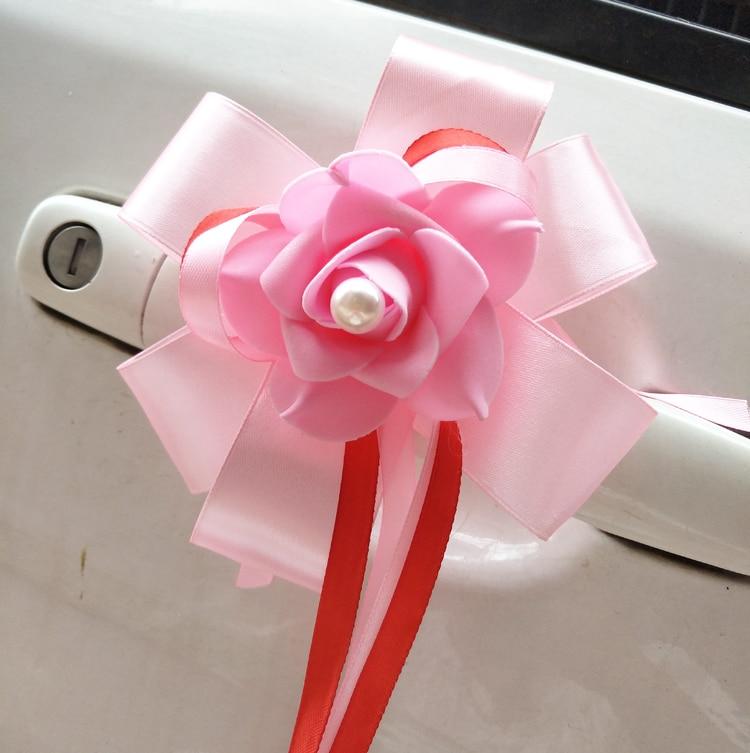 6 Pieces Set Wedding Car Decoration Bouquet Rear view ...